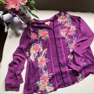 Flowy Purple Floral Blouse